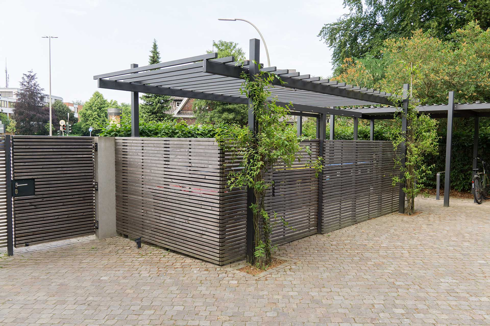 pergola aus metall in feuerverzinkt und pulverbeschichtet nach ma. Black Bedroom Furniture Sets. Home Design Ideas
